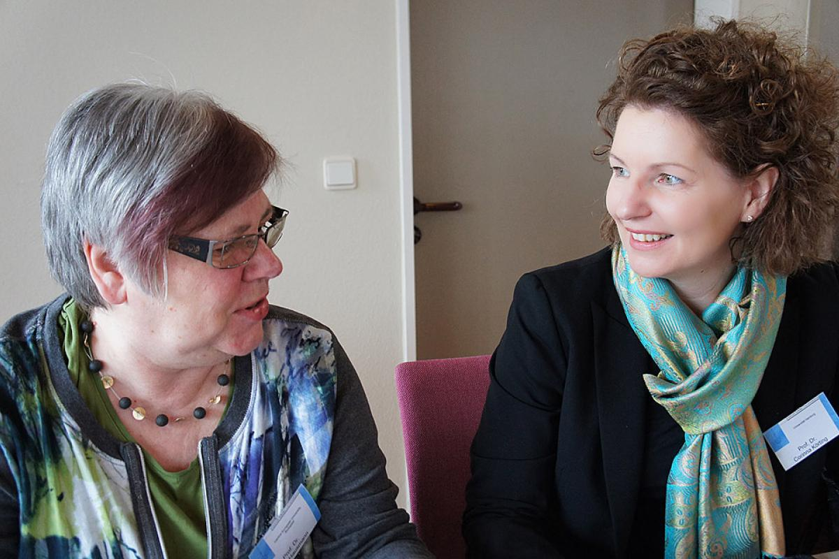 Participants in the Eisenach consultation included (left) Dr Jutta Hausmann from Hungary, and Dr Corinna Körting from Germany © LWF/I. Benesch