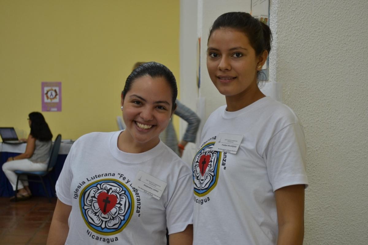 ILFE youth members Freidys Velazquez (right) and Alejandra López. Photo: ILFE/Chelcea Macek