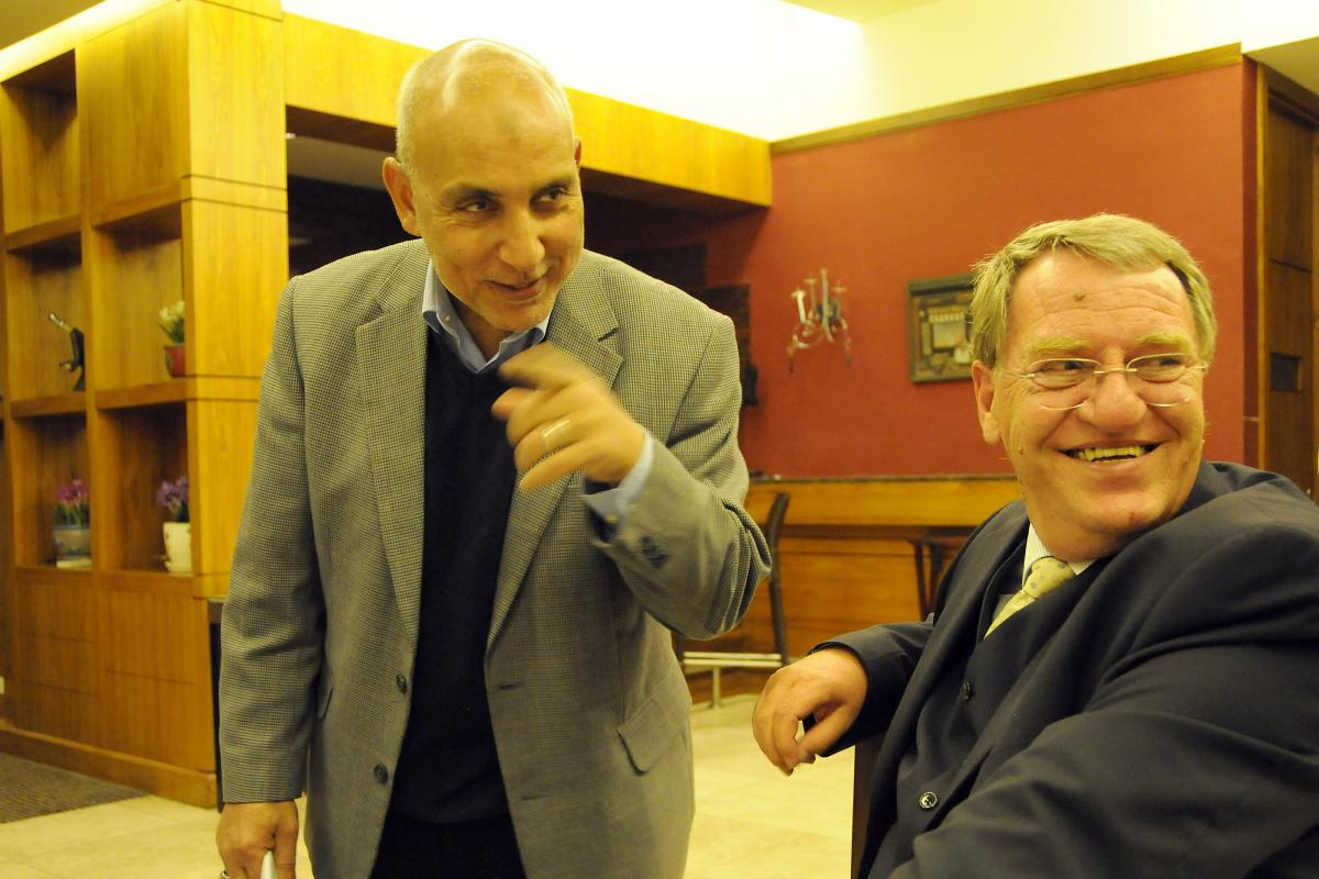 Rev. Eberhard Hitzler (right) and Dr Hany El Banna. Photo: LWF/M. Brown