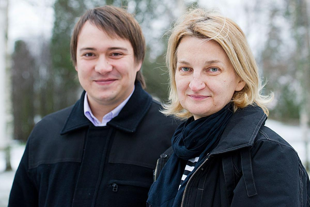 (l to r) Rev. Vladislav Iviciak, Marija Parnicki, both Slovak Evangelical Church of the Augsburg Confession in Serbia © LWF/Juho Kuva