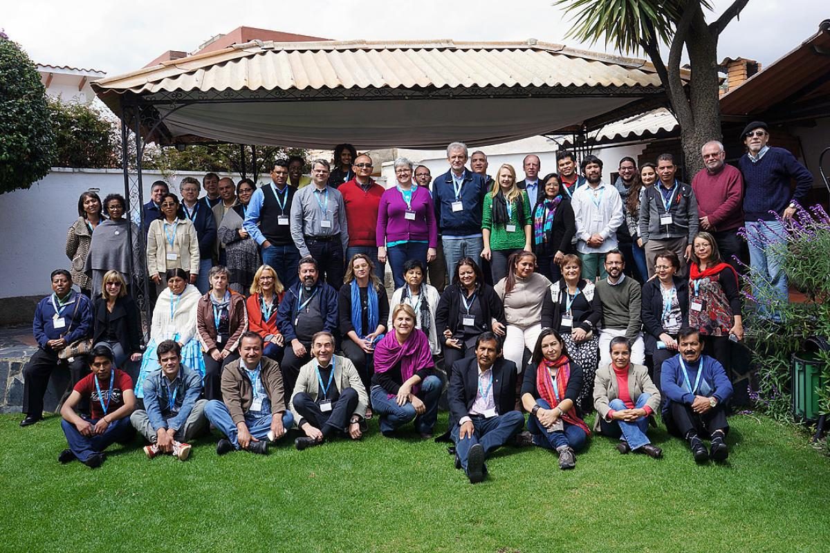 Participants at the April 2015 LAC Church Leadership Conference in La Paz, Bolivia. Photo: Eugenio Albrecht
