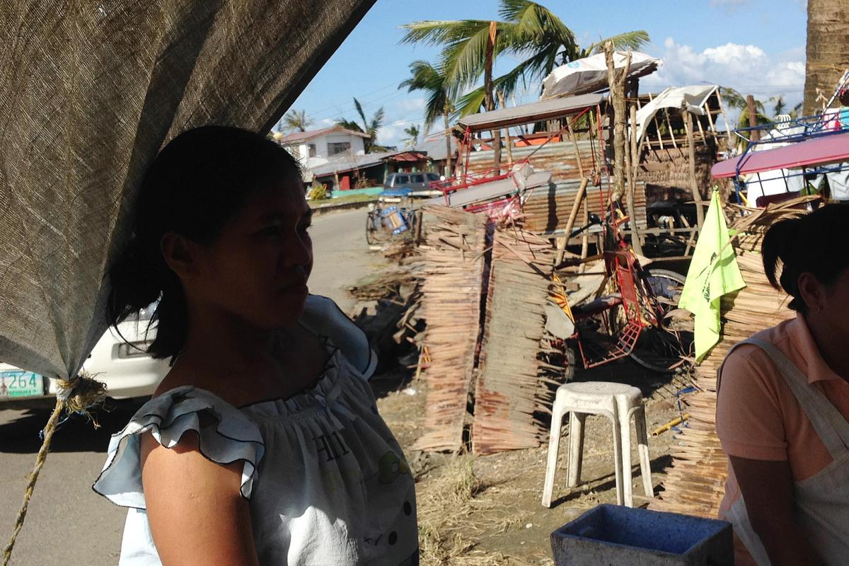 Maria Sol and her family narrowly survived Typhoon Haiyan. Photo: NCCP/ACT
