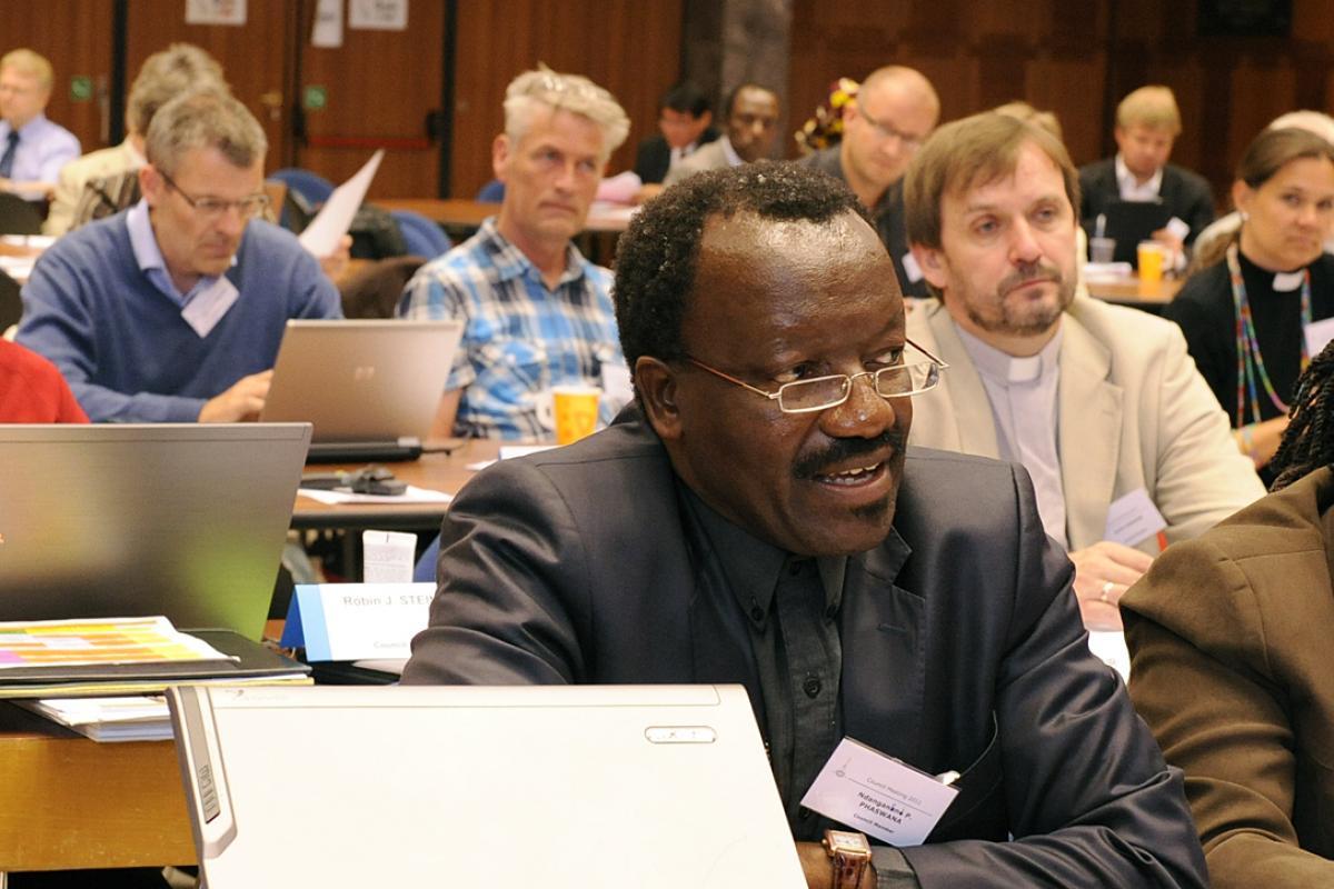 Bishop Dr Ndanganeni P. Phaswana at Council 2011. Photo: LWF/H.Putsman Penet