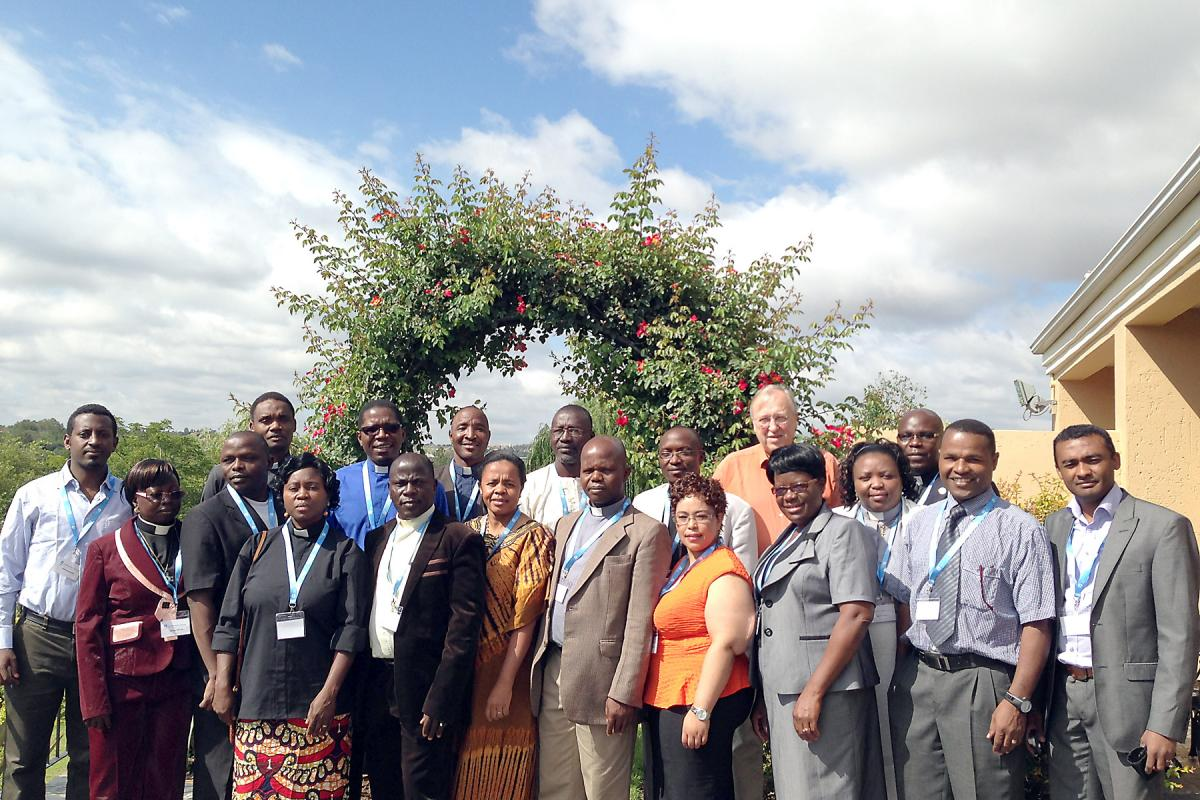 Theologians attending the regional hermeneutics workshop in Johannesburg, South Africa. Photo: LWF/I. Benesch