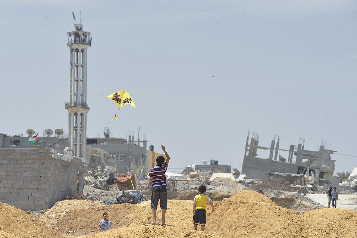 The LWF is among ACT Alliance members condemning deaths, housing demolitions and destruction in Palestine and Israel, including Gaza. File photo: ACT Alliance/Paul Jeffrey