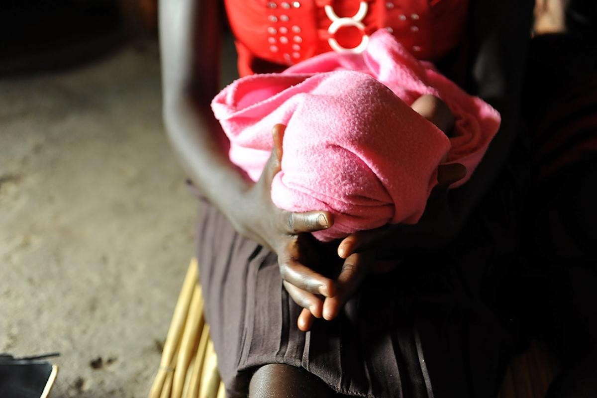 Mary holding her baby. Photo: LWF/M. Renaux