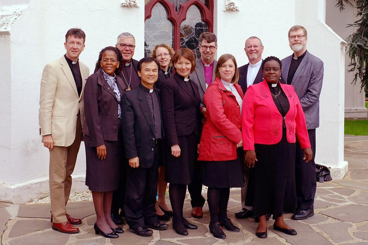 Members of the Anglican-Lutheran International Coordinating Committee at work  during their last meeting, May 2016, in Adelaide, Australia. Co-chairperson Bishop Michael Pryse is third from the left. Photo: Paul March