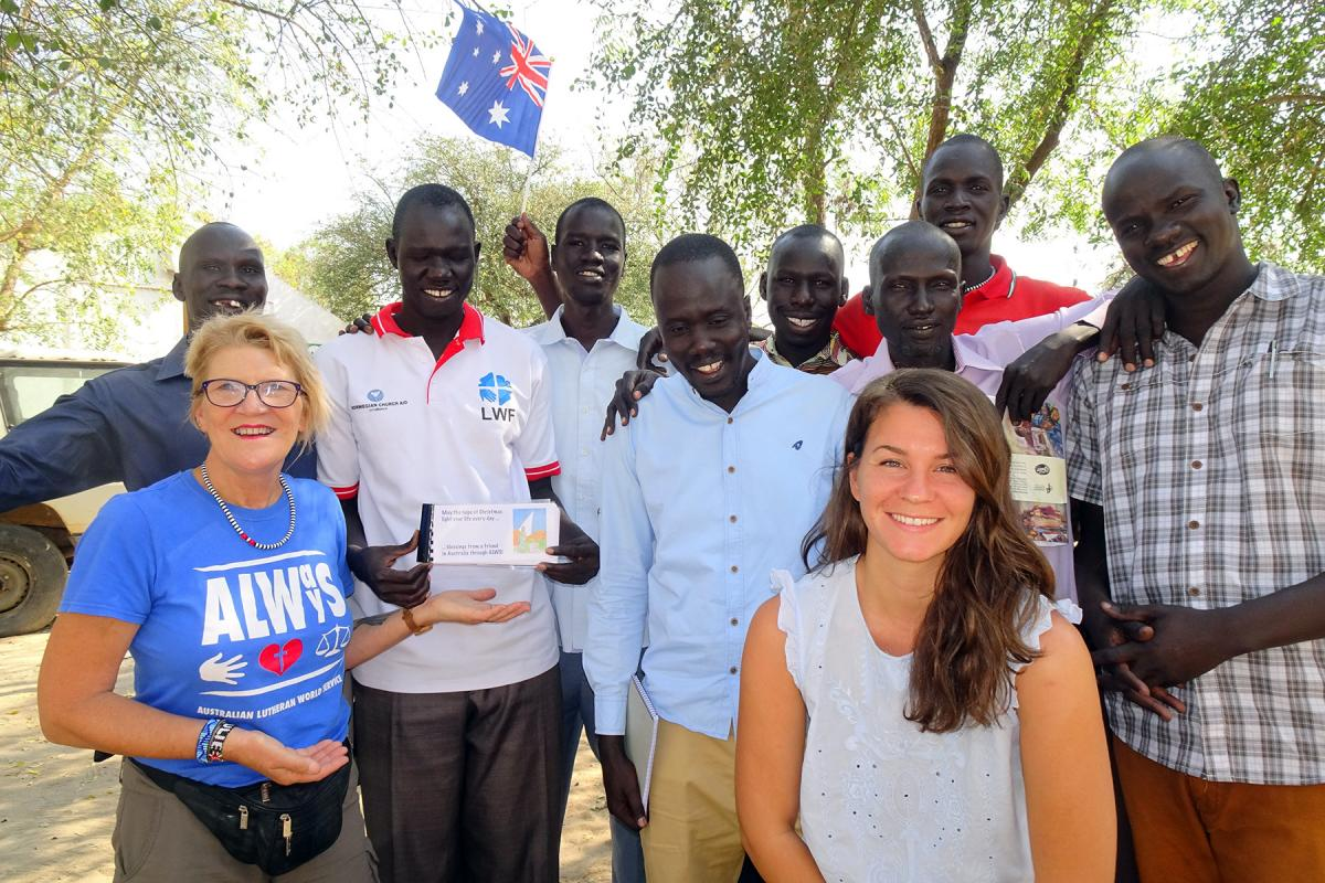 ALWS staff visit a community in Jonglei, South Sudan, in January 2020. Photo: ALWS/ Julie Krause