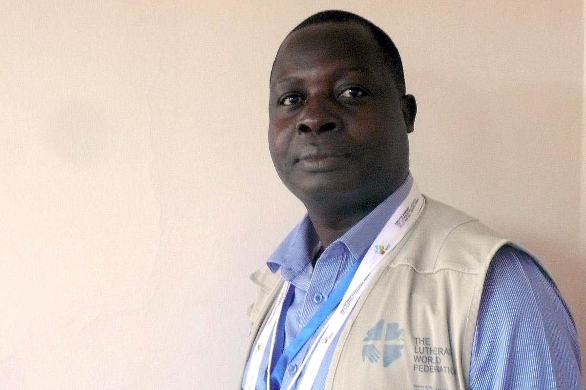 Abrao Mushivi, LWF Country Representative in  Angola. Photo: LWF/Rainer Lang