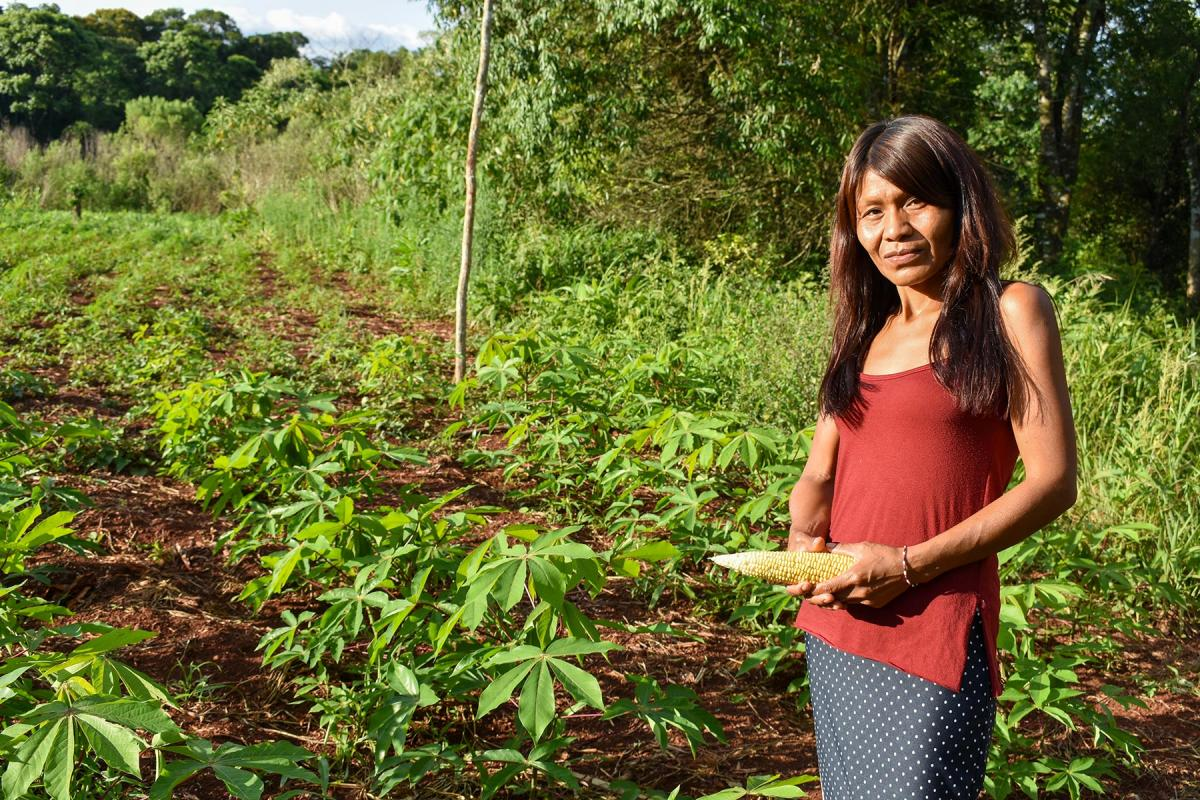 A Mbya Guaraní farmer in Ka'a Kupe community, Misiones province. All photos: Hora de Obrar