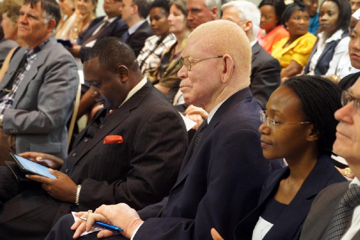 Bishop emeritus Dr Zephania Kameeta, ELCRN, at the symposium. Photo: LWF/H. Martinussen