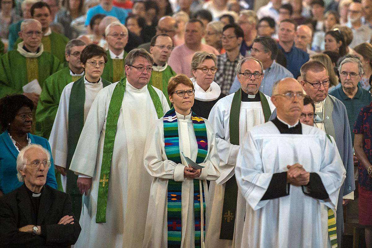 In July 2016, members of the Lutheran–Roman Catholic Commission on Unity met in London, United Kingdom, and participated in a mass held at the Westminster Cathedral. Photo: Mazur/catholicnews.org.uk