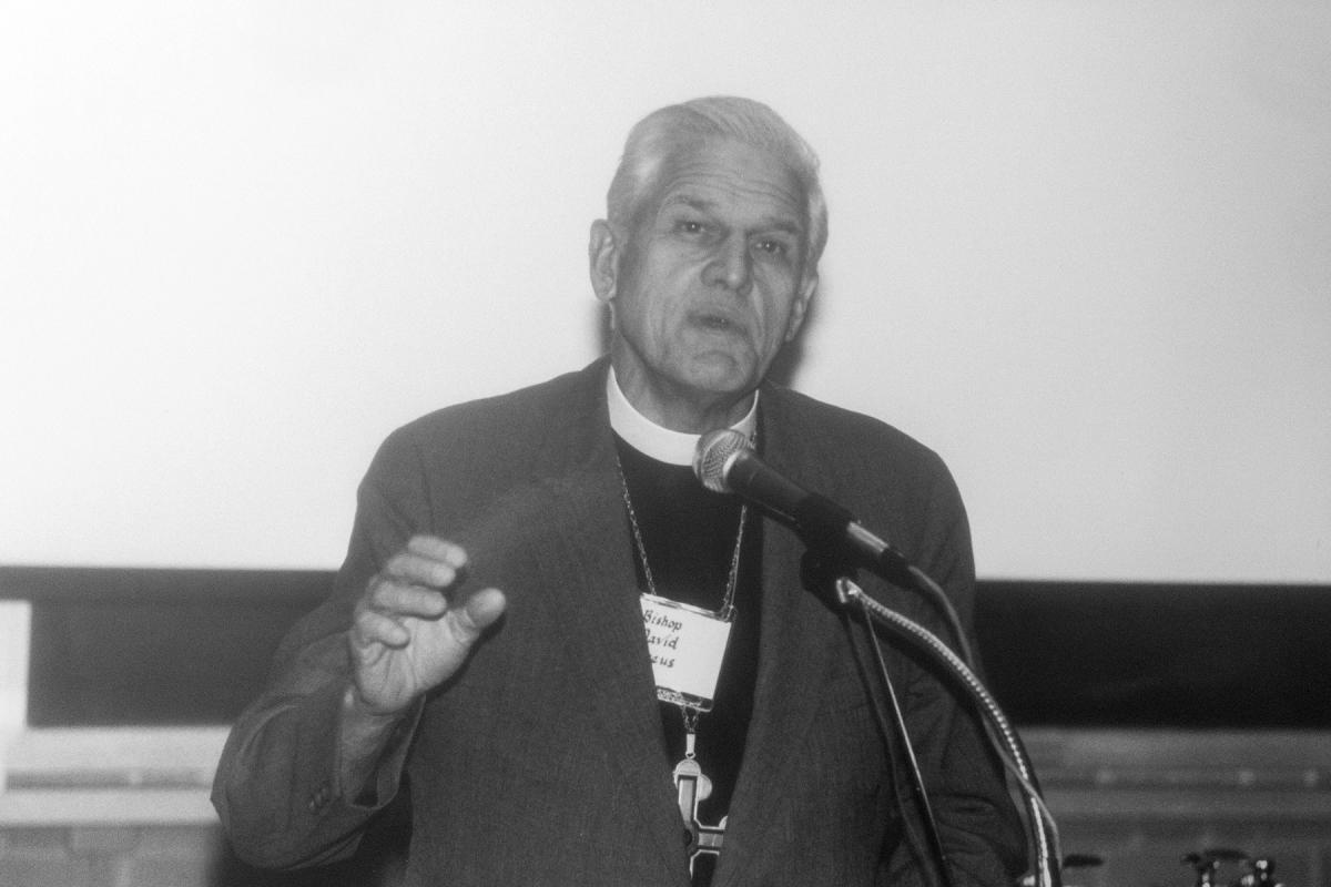 Bishop Dr David W. Preus, Vice-President of the LWF, February 1987. Photo: LWF/Emily Demuth