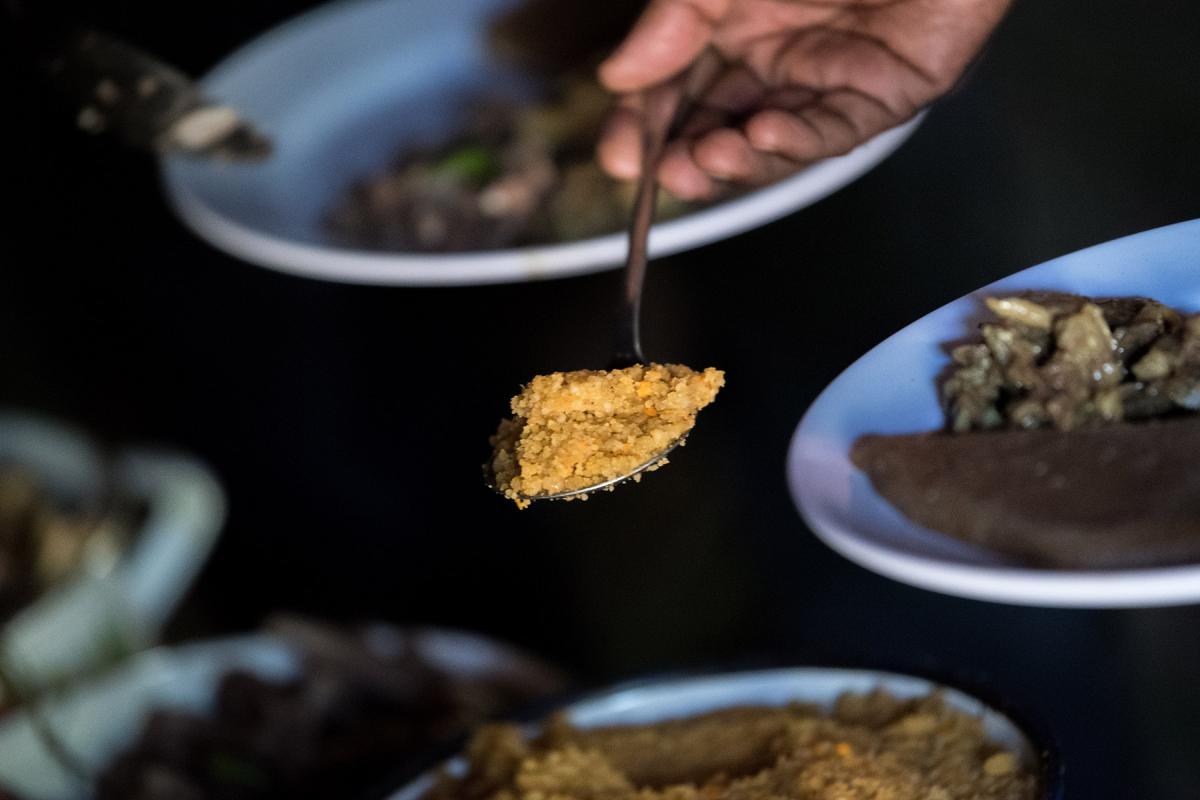 A traditional meal is served in Hadiya, south central Ethiopia. Photo: Albin Hillert/LWF