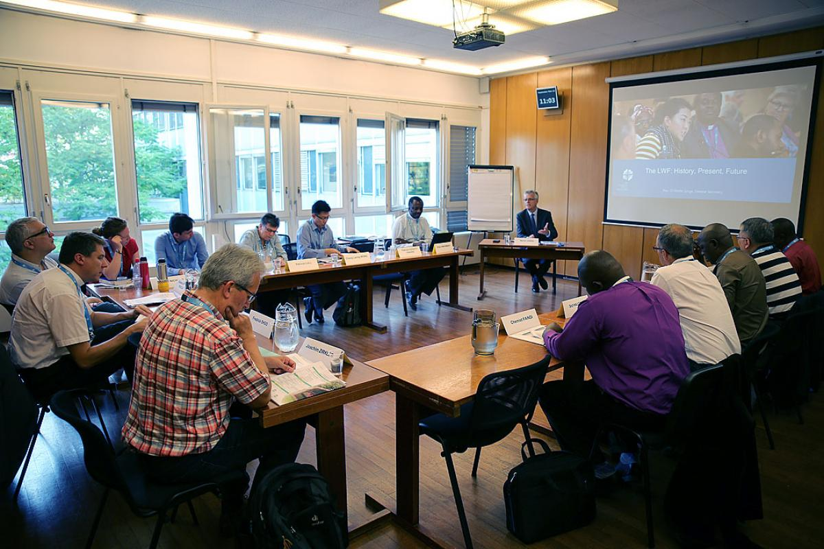 Eleven leaders from LWF member churches are meeting in Geneva 12-18 September, to share and learn about vocation in their respective churches and in the global LWF communion. Photo: LWF/S. Gallay