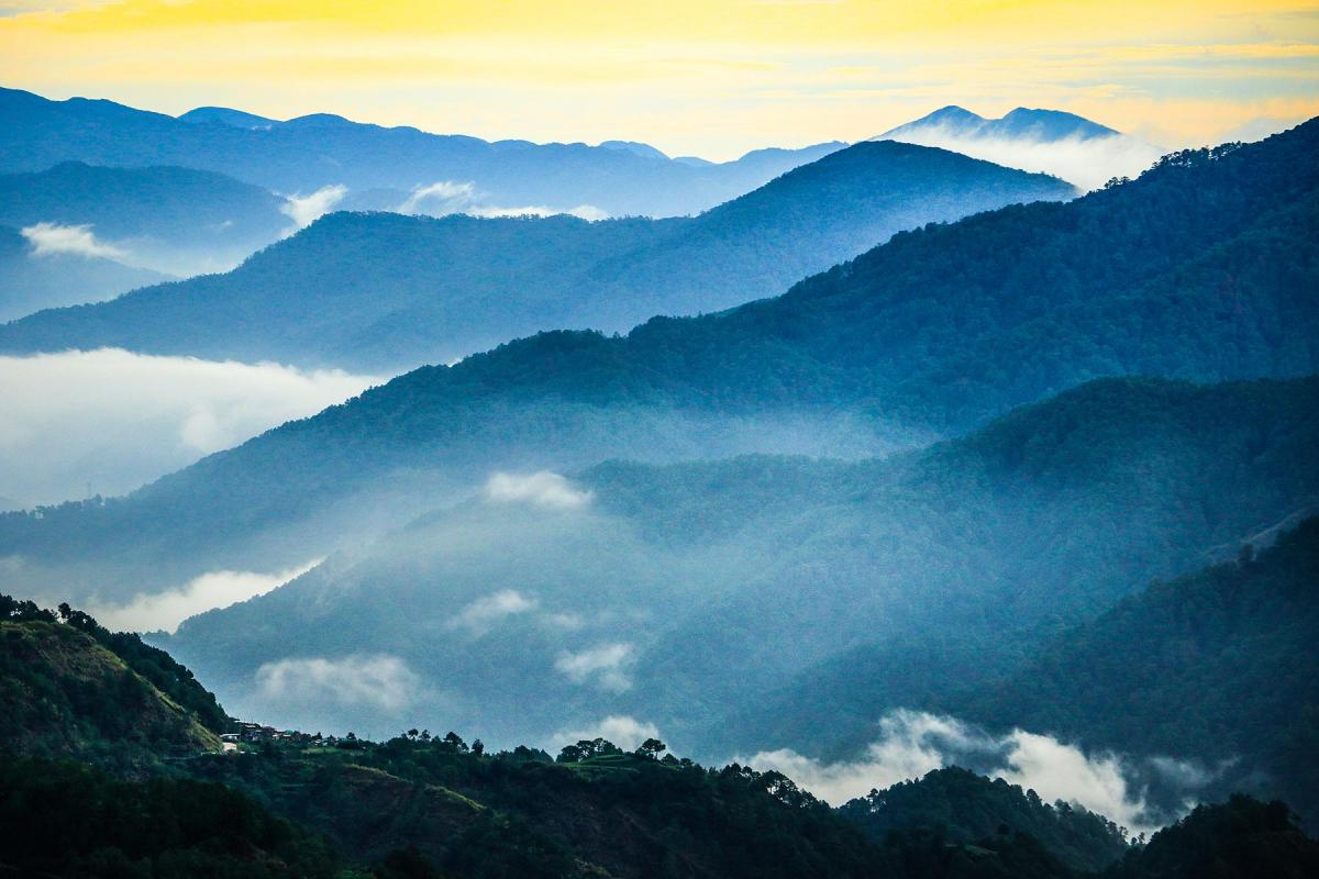One of the photos in the exhibition, showing sunrise in Bauko, Mountain Province, Philippines. Photo: Johanan Celine Valeriano