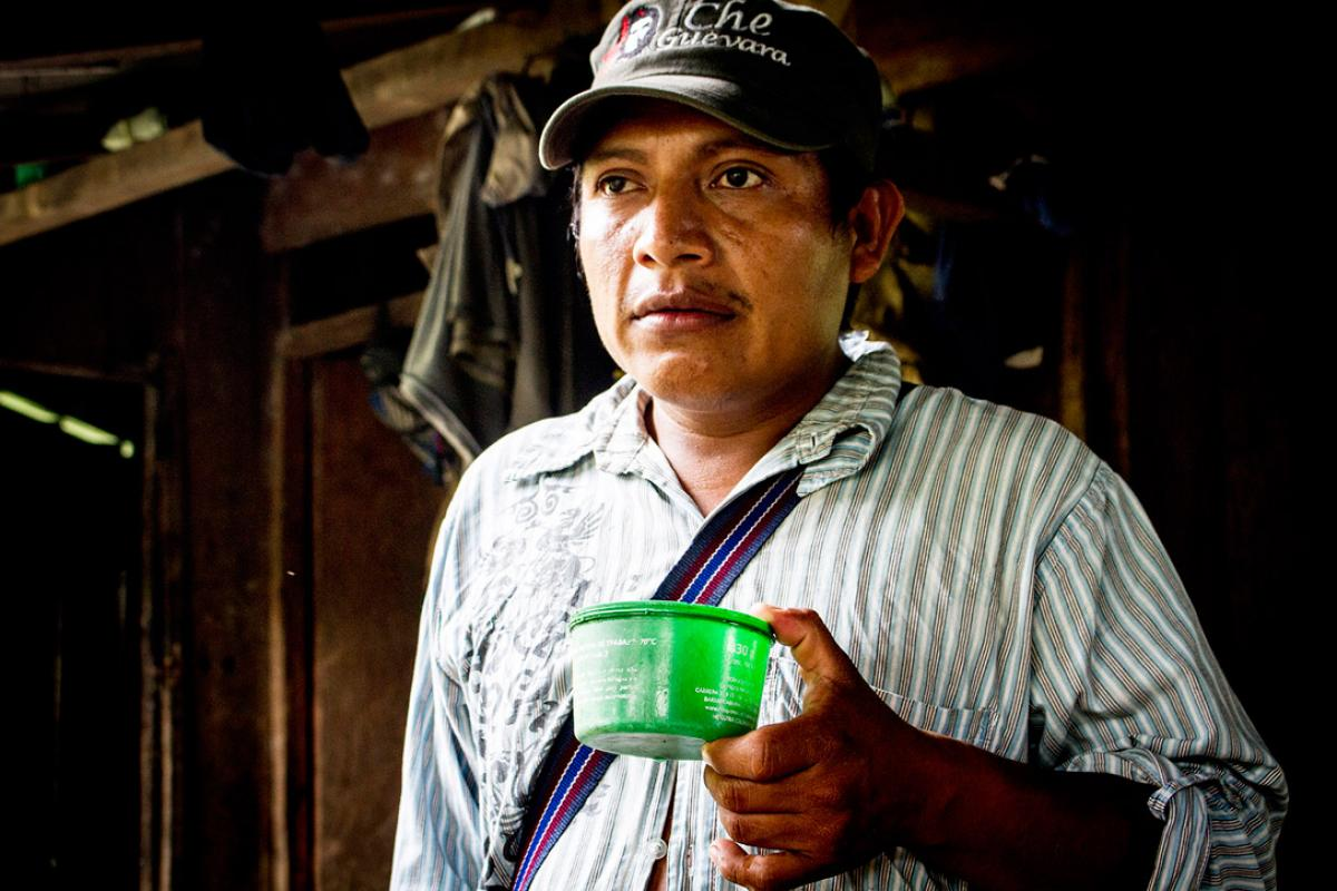 Caption: Cristo Perez, land mine survivor and board member of the Association of Antipersonnel Mine Survivors Fighting for Dignity and Peace, a partner supported by the LWF in Colombia. Photo: LWF/Antonio Sánchez Salazar