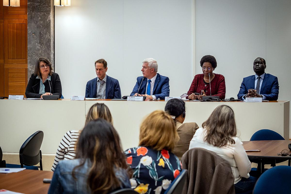Members of the panel discussing prospects for peace and human rights in Colombia. Photo: LWF/A. Danielsson