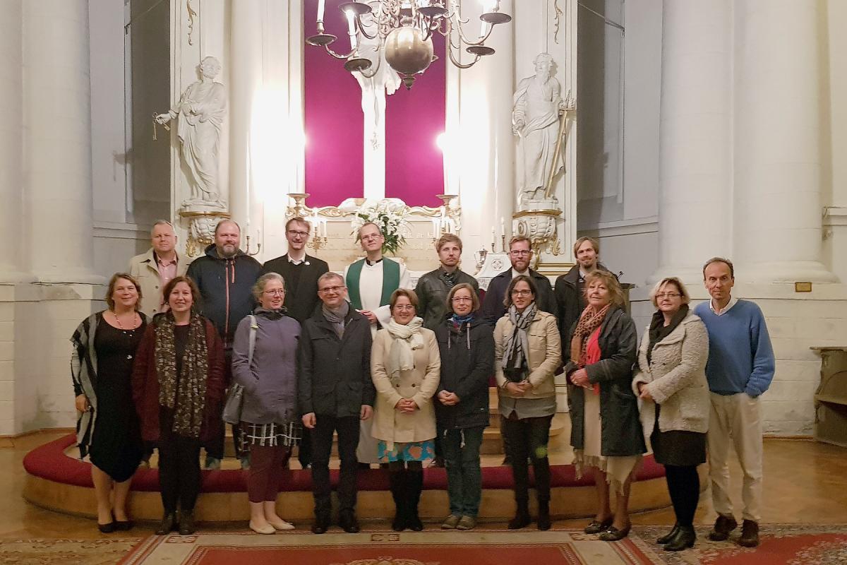 The participants of the communications workshop. Photo: LWF/Praxedis Bouwman