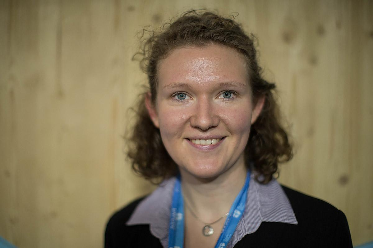 Helena Funk, Evangelical-Lutheran Church of Northern Germany, is one of ten young adults from the European and Asia region that form the COP23 delegation in Bonn, Germany. Photo: WCC/ Sean Hawkey