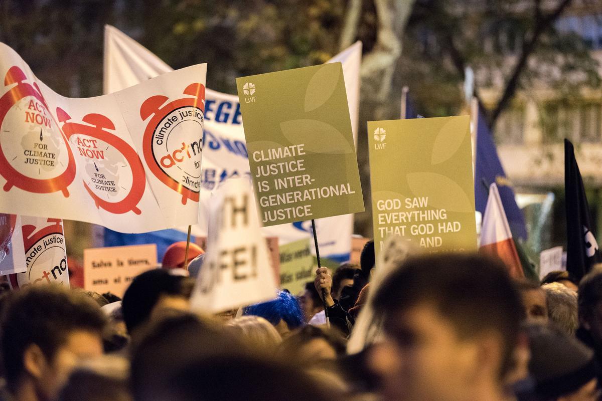 COP25 in Madrid, 2019. Photo: LWF/Albin Hillert