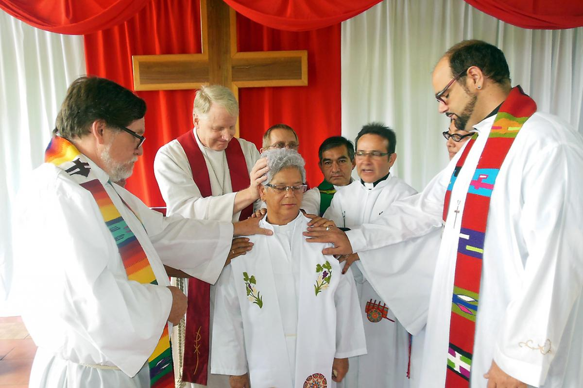 "Rev. Gilberto Mora Quesada said the church ordained Teresa Guadamuz ""based on merit and maturity"" after a long and sometimes difficult process, in which she always stood firm. Photo: ILCO/Rodolfo Mena Vargas"