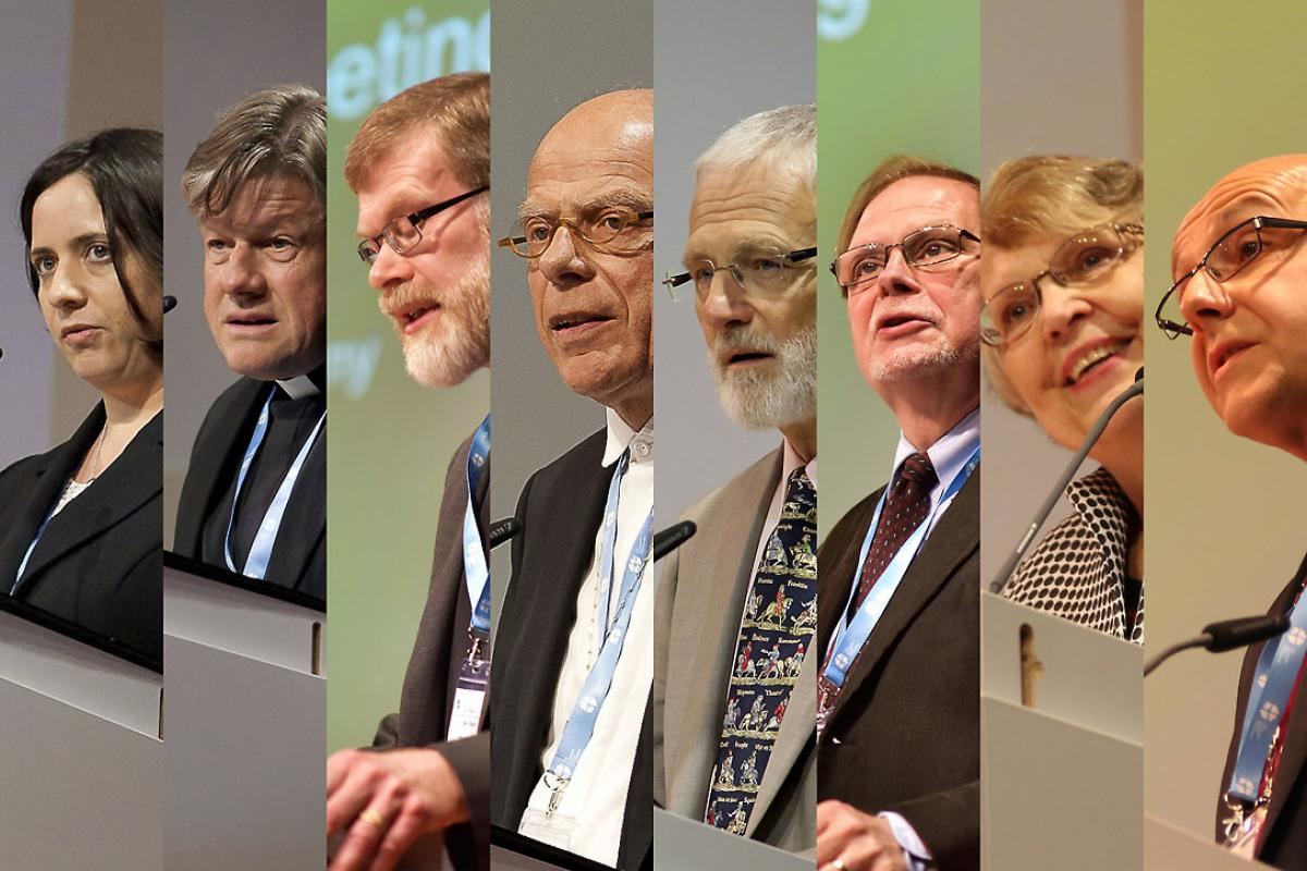 Representatives of the major partners of the LWF, with which it has dialgoue, greeted the Council on behalf of their organizations. Photos: LWF/Marko Schoeneberg, M. Renaux and F. Hübner