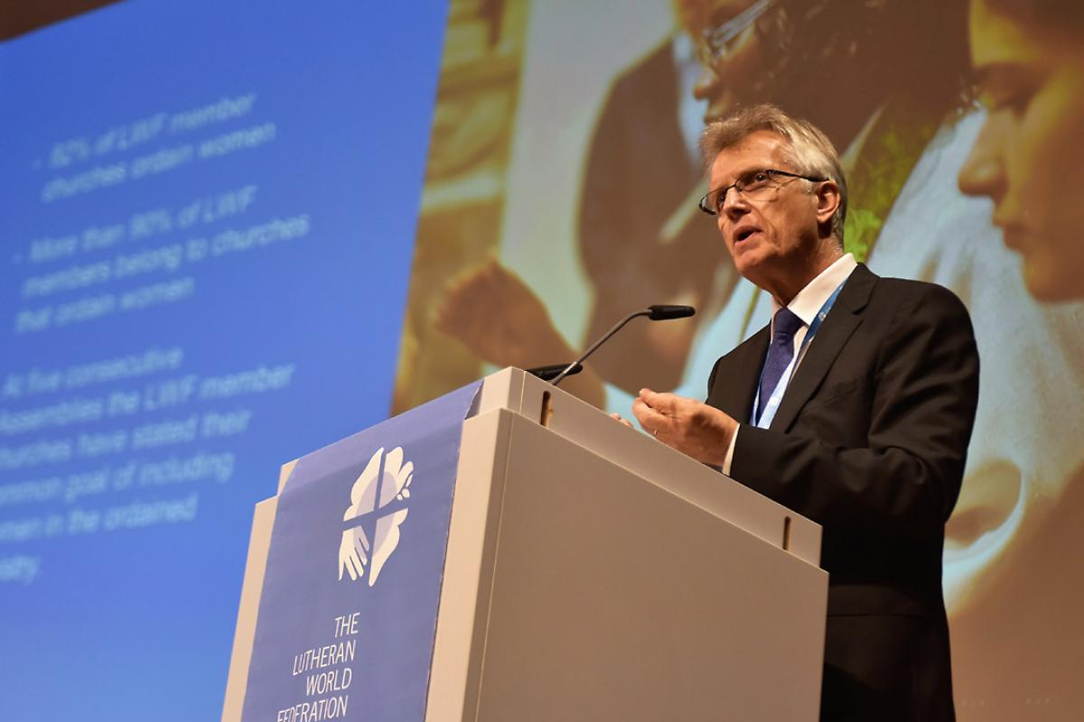 LWF General Secretary Rev. Dr Martin Junge. Photo: LWF/M. Renaux