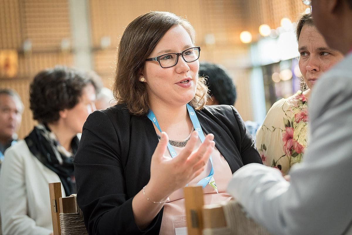 Julia Braband is one of the young adults elected to the LWF Council last year. She represents Central Western Europe in this governing body. Photo: LWF/Albin Hillert