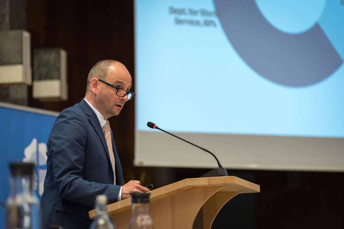 Oberkirchenrat Olaf Johannes Mirgeler, chairperson of the LWF Finance Committee. Photo: LWF/Albin Hillert
