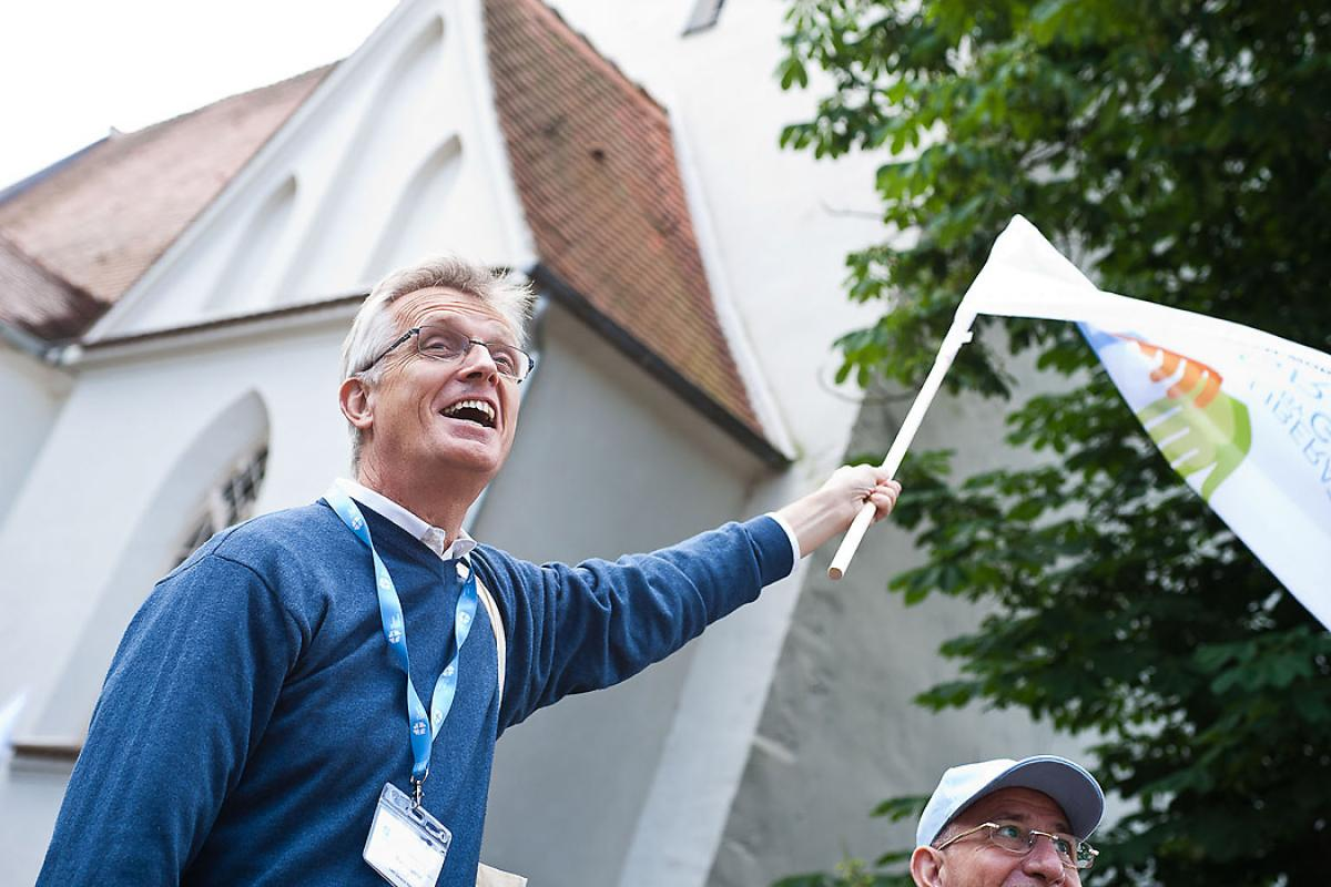 LWF General Secretary Martin Junge invites churches to uphold the three LWF commitments for the Reformation anniversary.  Photo: LWF