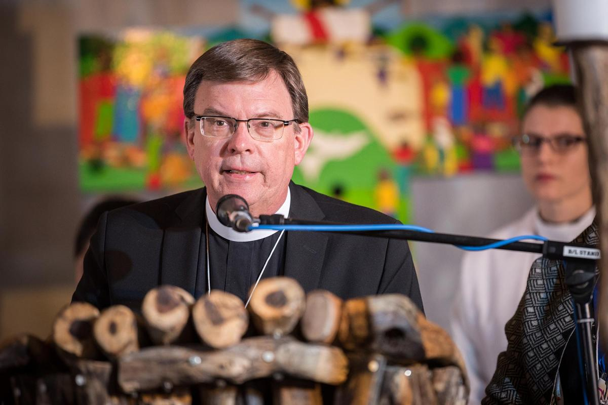 Prof. Dr Dirk Lange speaking at the LWF Assembly in Namibia. Photo: A.Hillert/LWF