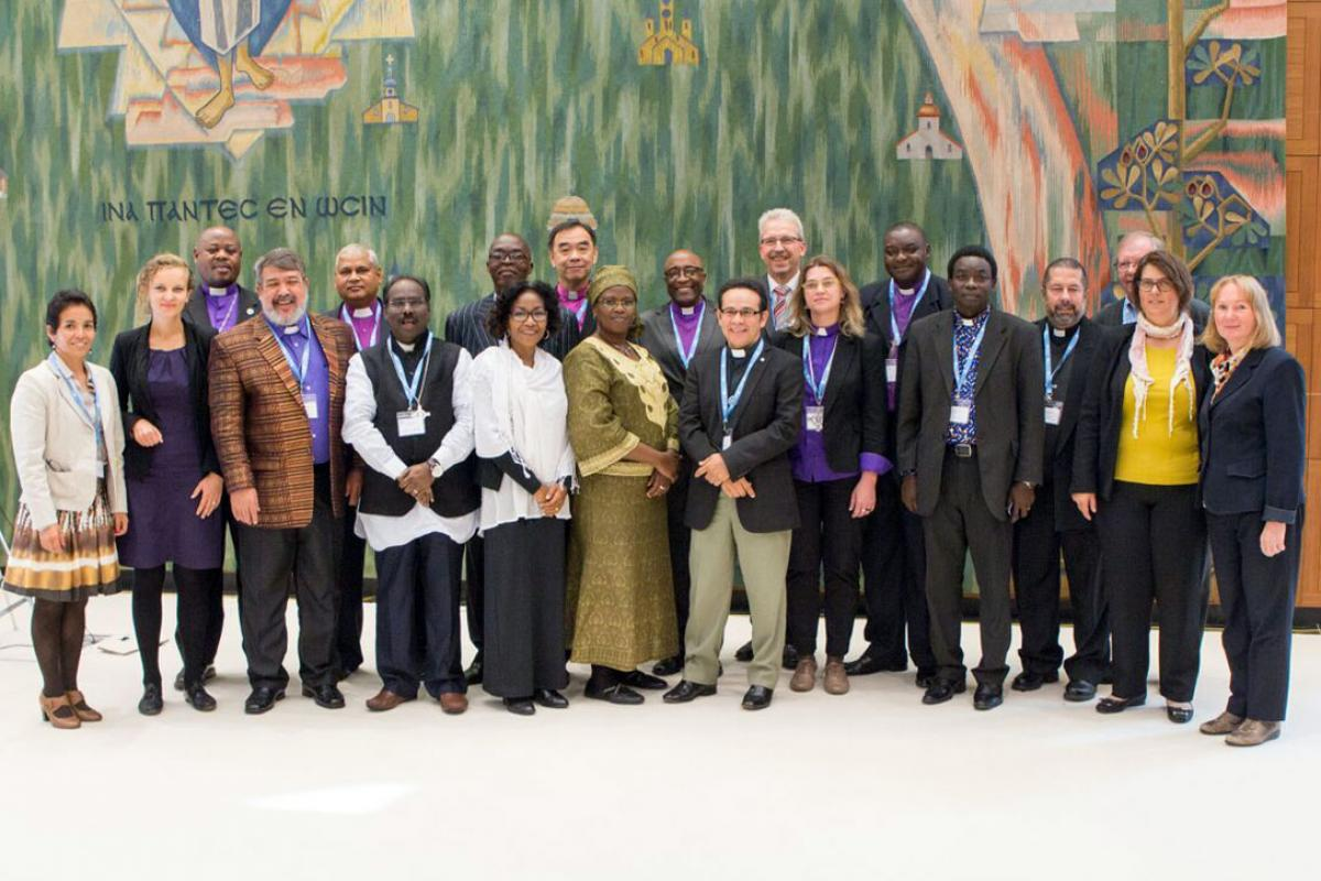 New church leaders who have formed a peer support network, seen here with communion office staff. Photo: LWF/S. Gallay
