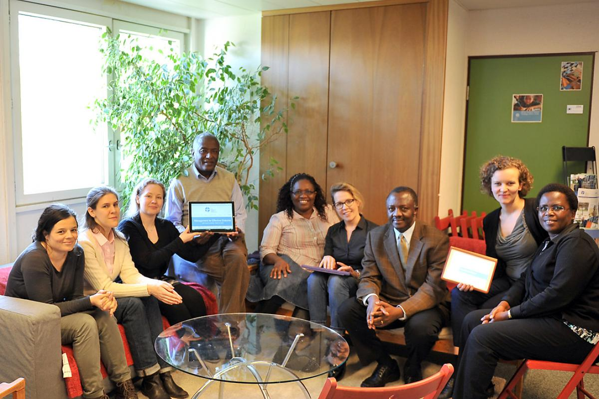 DMD staff facilitated the LWF online conferences, aimed at highlighting diakonia as an important part of Lutheran church identity. Photo: LWF/S. Gallay