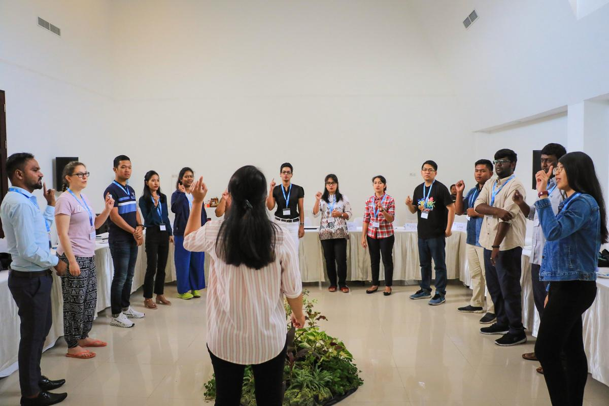 Morning Devotion during the Global Young Reformers' Network 2.0 Asia Regional Meeting in 2019. Photo: LWF/Johanan Celine Valeriano