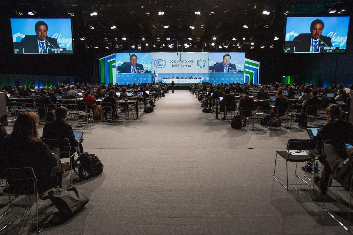 The Plenary Hall at the UN climate change negotiations COP24 in Katowice, Poland. Photo: LWF/Sean Hawkey