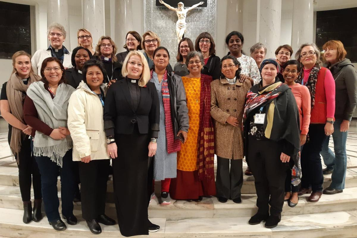 Participants at a global consultation of Women doing Theology gather at Holy Trinity Lutheran church in Warsaw, Poland, in November 2019. Photo: LWF/P. Hitchen