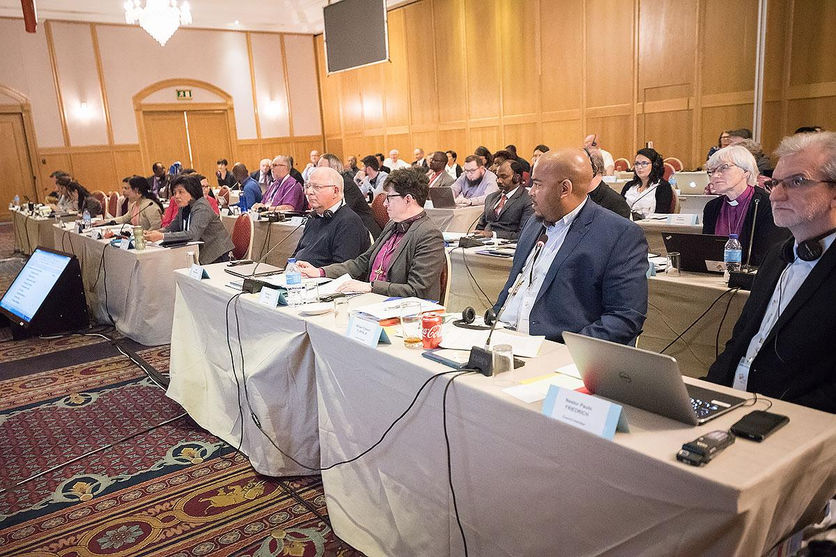 Newly elected Lutheran World Federation Council meets for the first time in Windhoek, Namibia on 17 May 2017. Photo: LWF/Albin Hiller