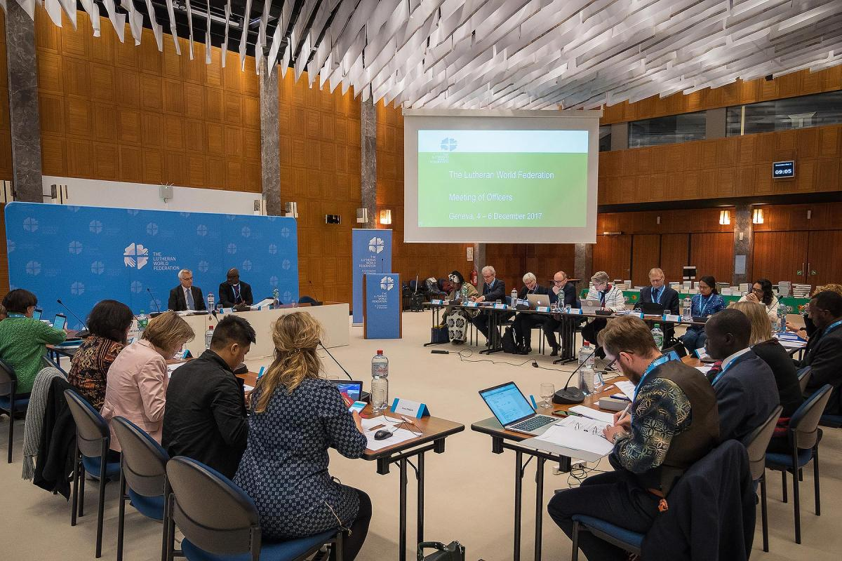 The Meeting of Officers met for the second time in Geneva, Switzerland on the 5 December 2017. Photo: LWF/S. Gallay
