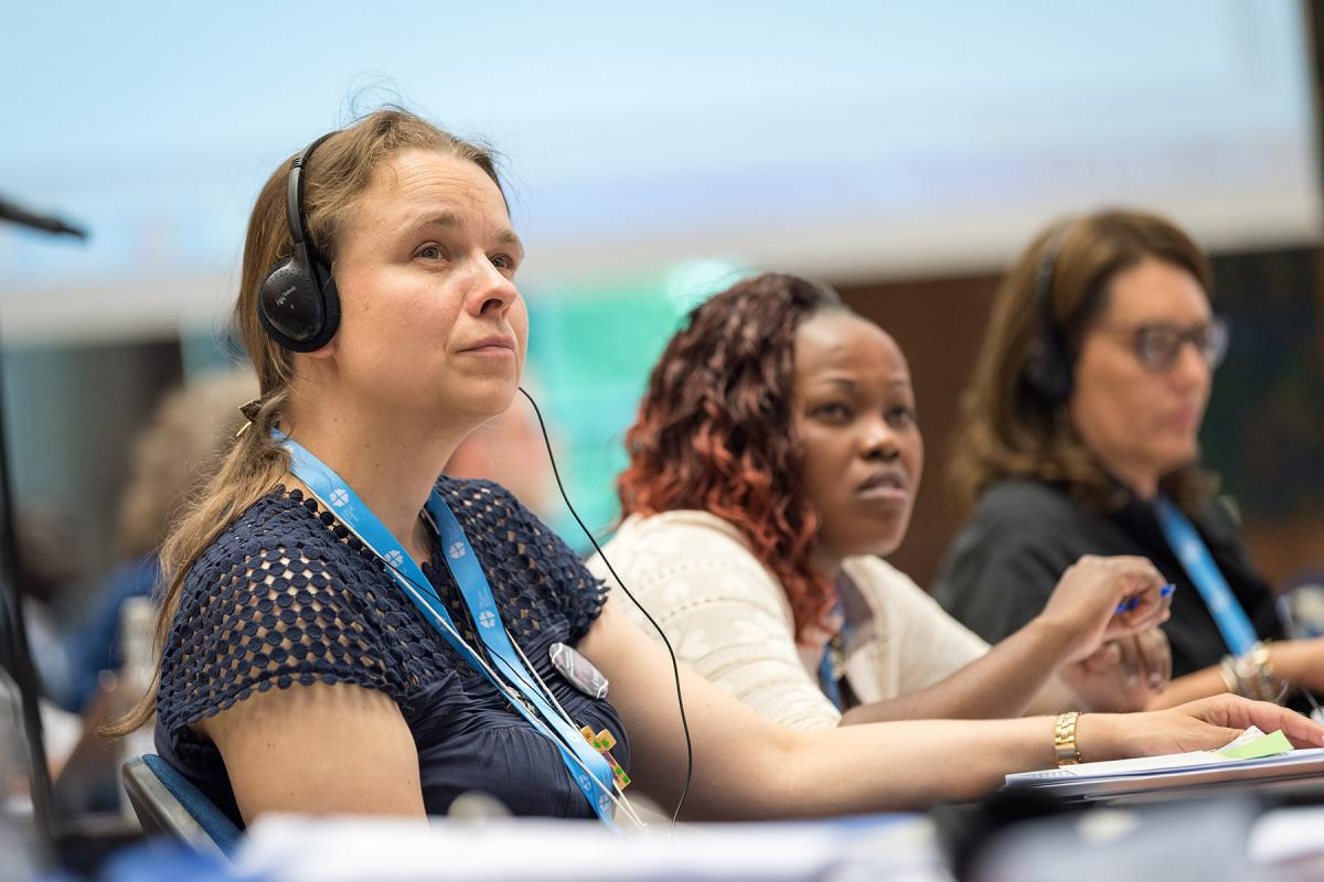 The 2018 LWF Women Pre-Council meeting took place in Geneva the day before the Council started. Council member, Bettina Westfeld. Photo: Albin Hillert/LWF