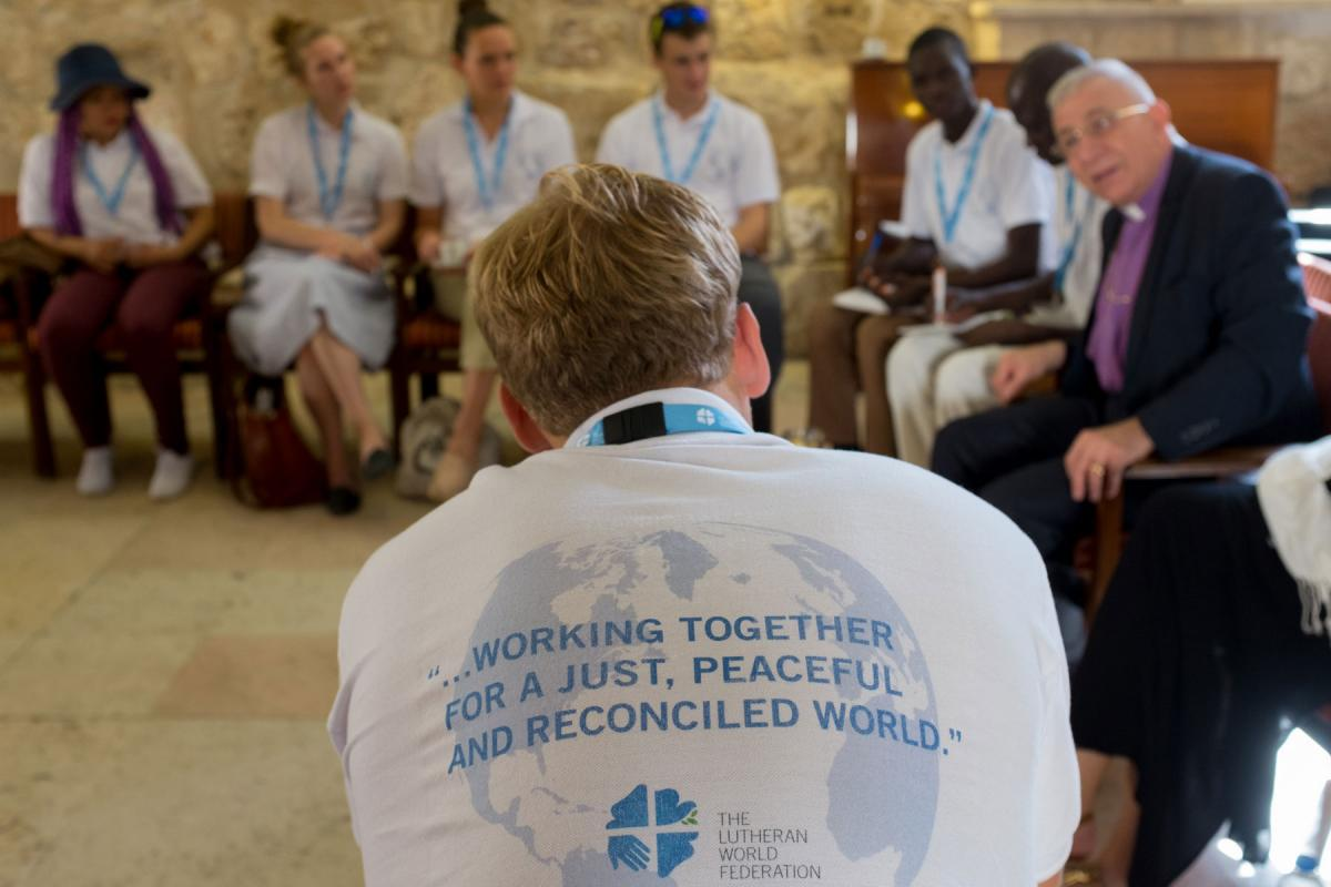 2017 Peace messenger training in Jerusalem. Photo: LWF/ B. Grey