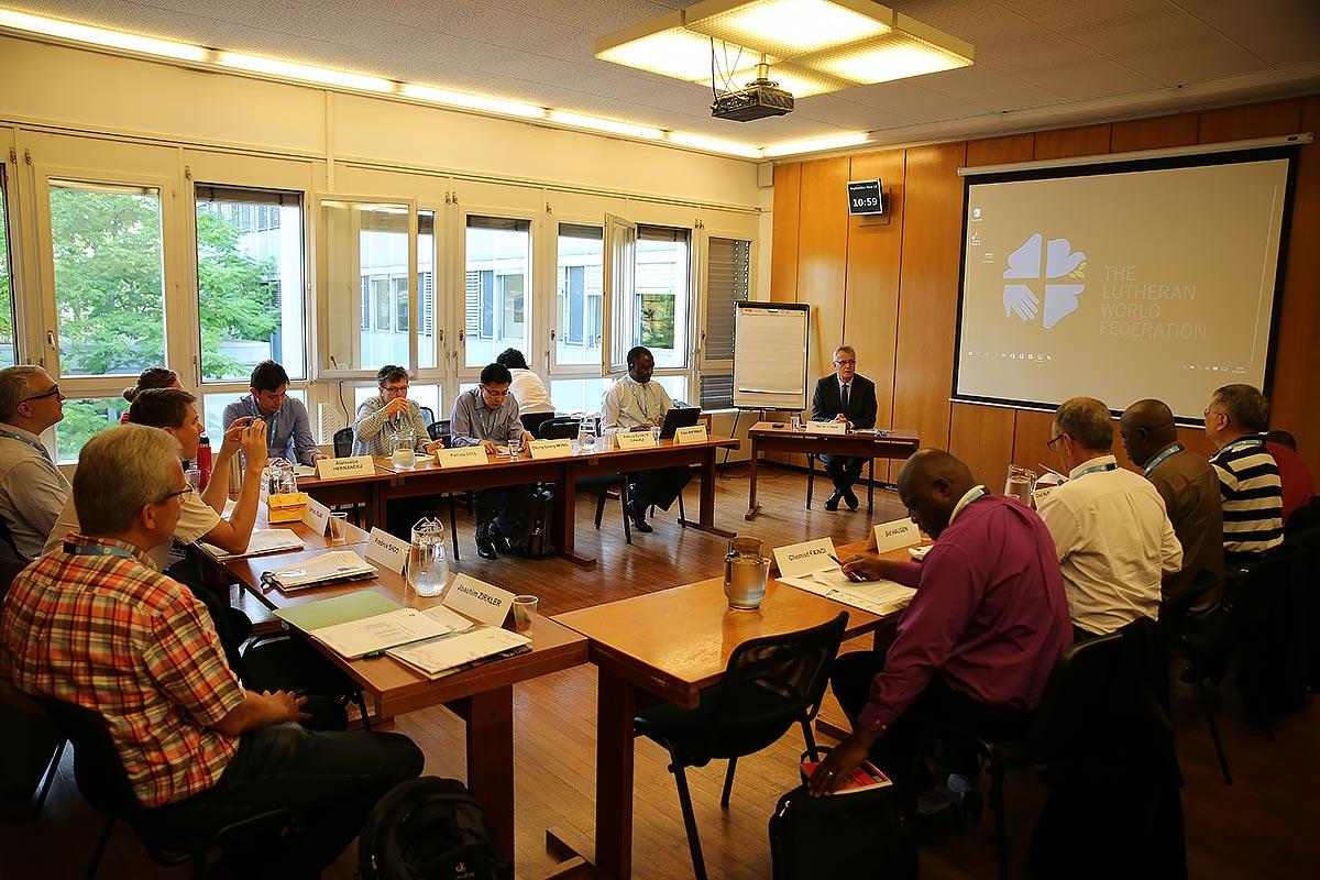 RoNEL, newly elected leaders from 15 LWF member churches met for a retreat at the LWF Communion Office. September 2016. Photo: LWF/S. Gallay