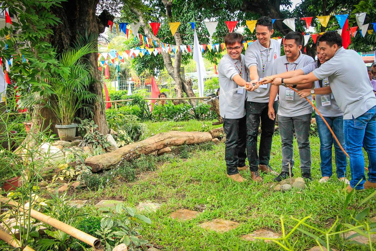 Tree planting and dedication of the Lutheran Church in the Philippines Luther Garden in 2017. Photo: LCP