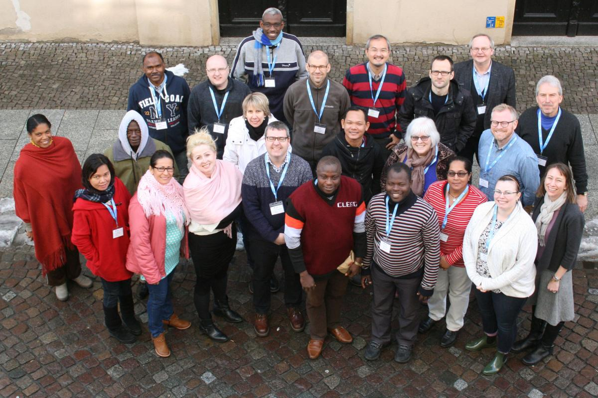 Participants at the 17th International Seminar for Pastors in Lutherstadt Wittenberg that took place from March 3rd to March 17th, 2018. Photo: LWB-Zentrum Wittenberg