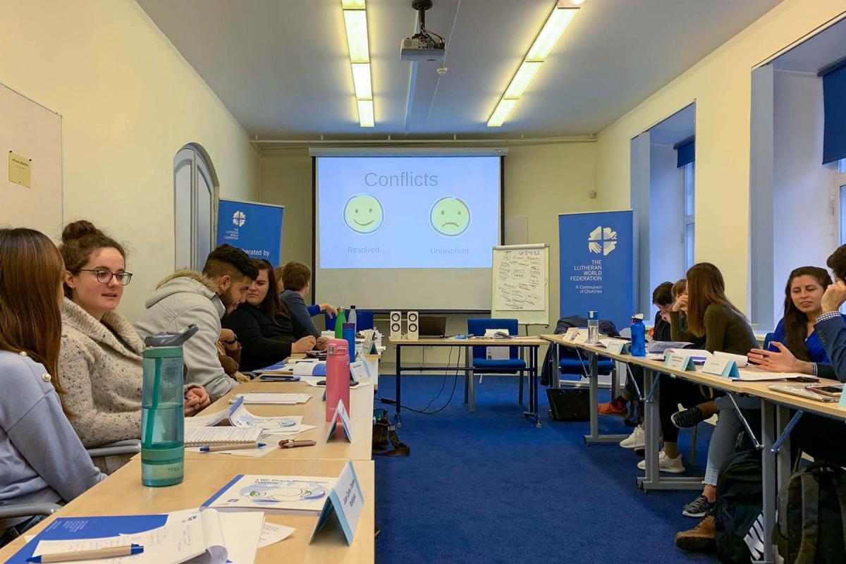 Participants in the 2019 LWF Peace Messengers training workshop in Tallinn, Estonia. LWF/S. Kit