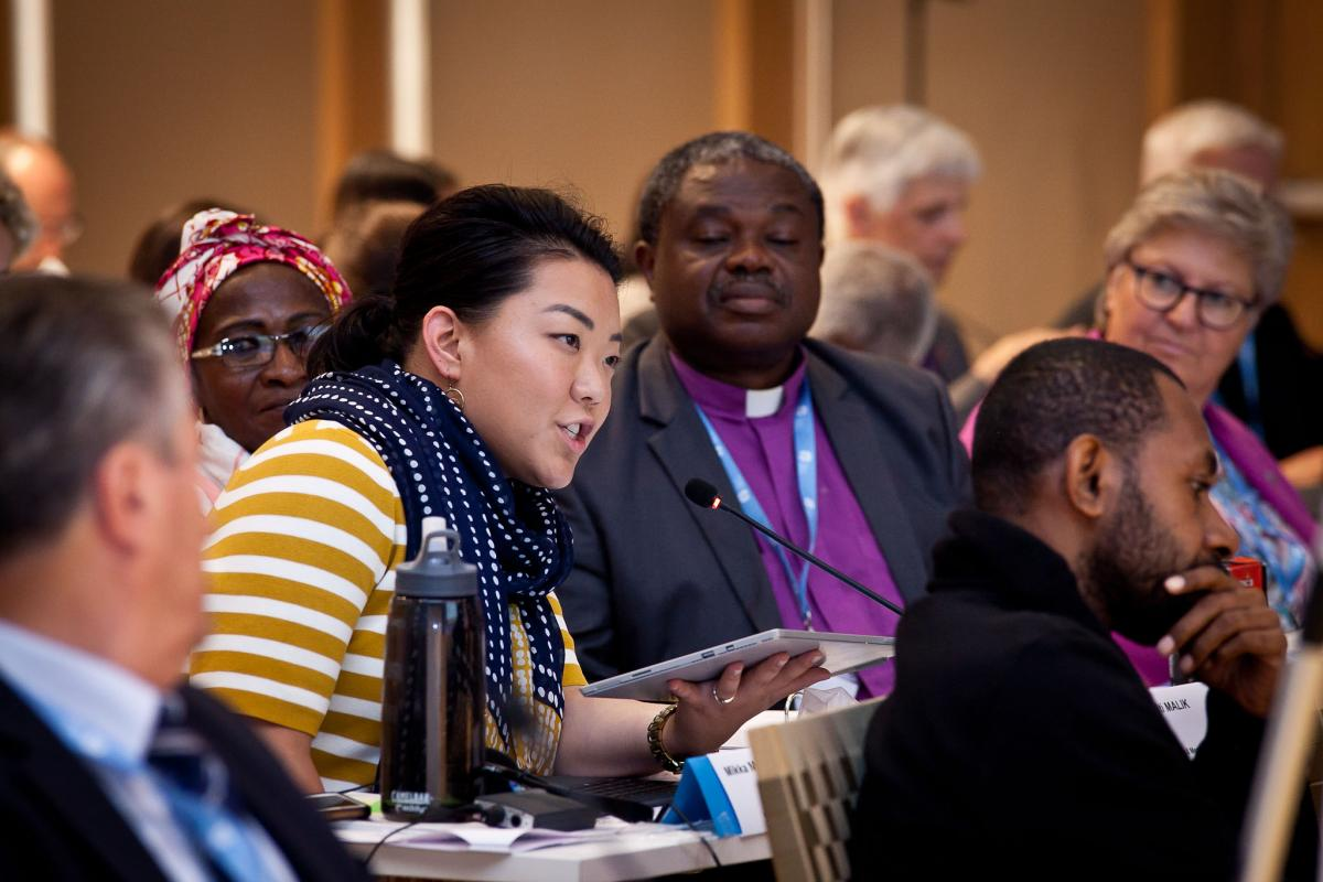 LWF Council members follow a discussion in Wittenberg. Photo: LWF/Marko Schoeneberg