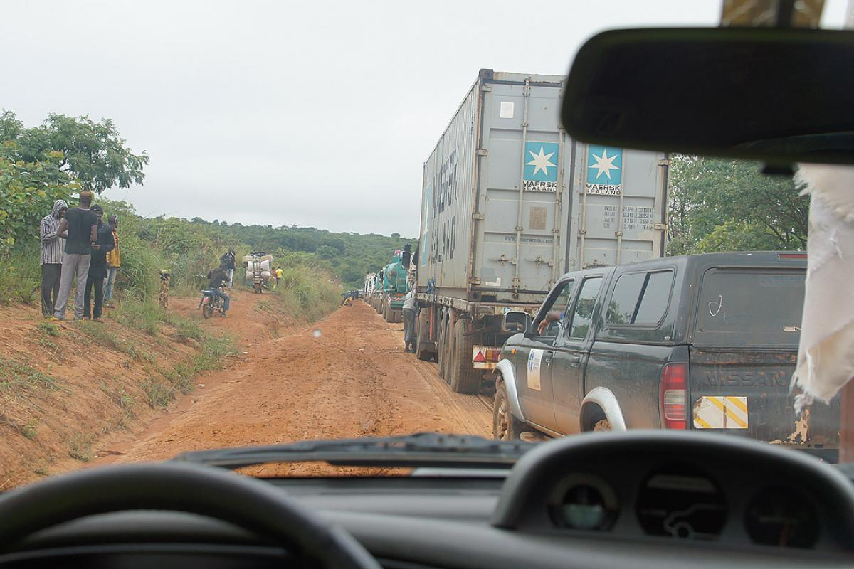 The rainy season makes access to remote areas in CAR much more difficult. Photo: LWF/P. Mumia