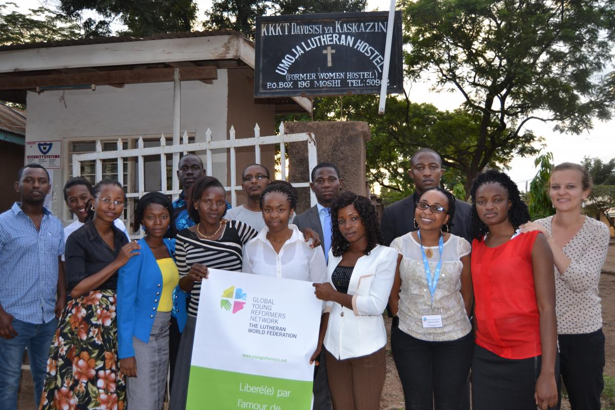 Participants of the Global Young Reformers Network meeting in Moshi, Tanzania. Photo: LWF/Nengida L. Johanes