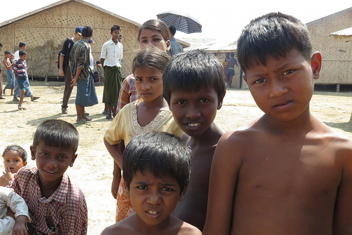 IDP children at Say Tha Mar Gyi Camp in Rakhine State. Photo: LWF Myanmar