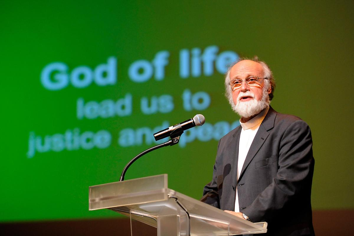 Opening of the Assembly by Rev. Dr Walter Altmann, WCC moderator. Photo: Peter Williams/WCC